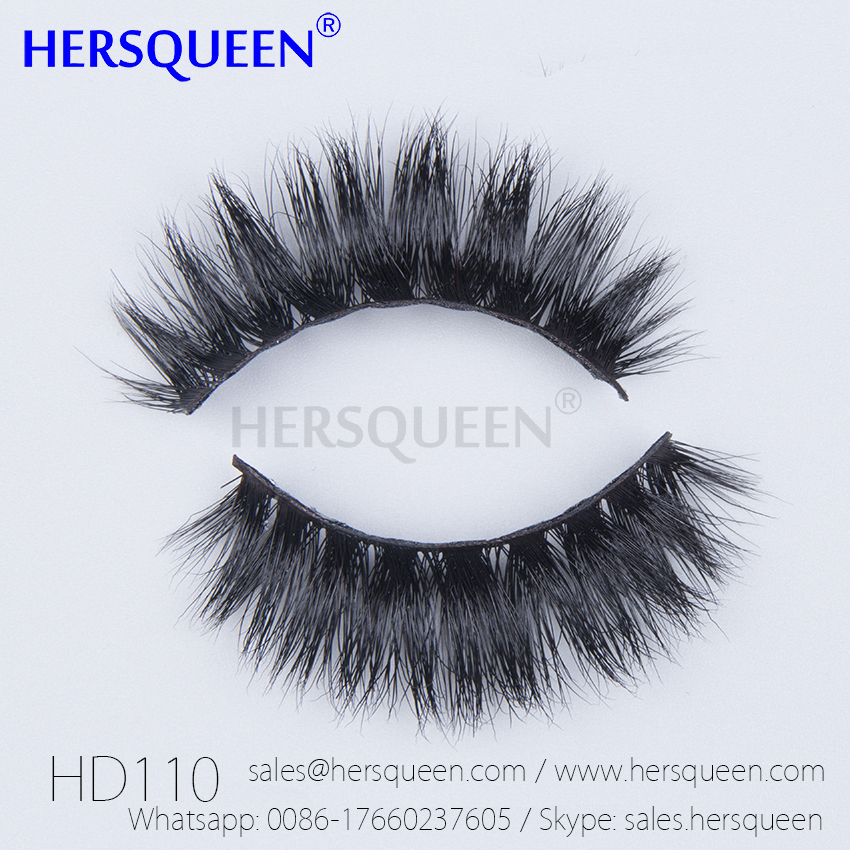Real Mink Fur False Eyelashes Natural Siberian Mink Fur
